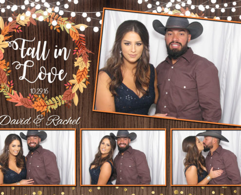 Couples pose in photo booth